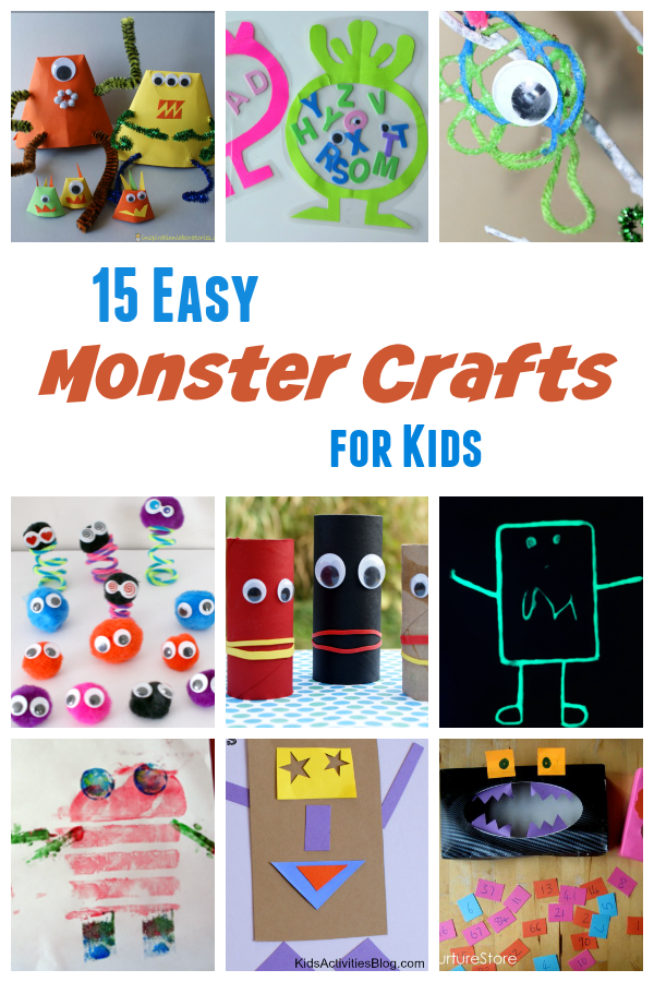 Easy Preschool Monster Crafts